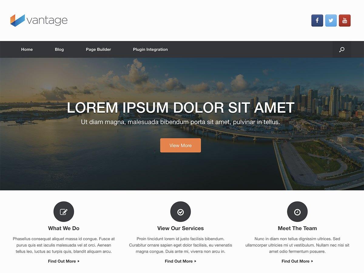 Vantage WordPress theme
