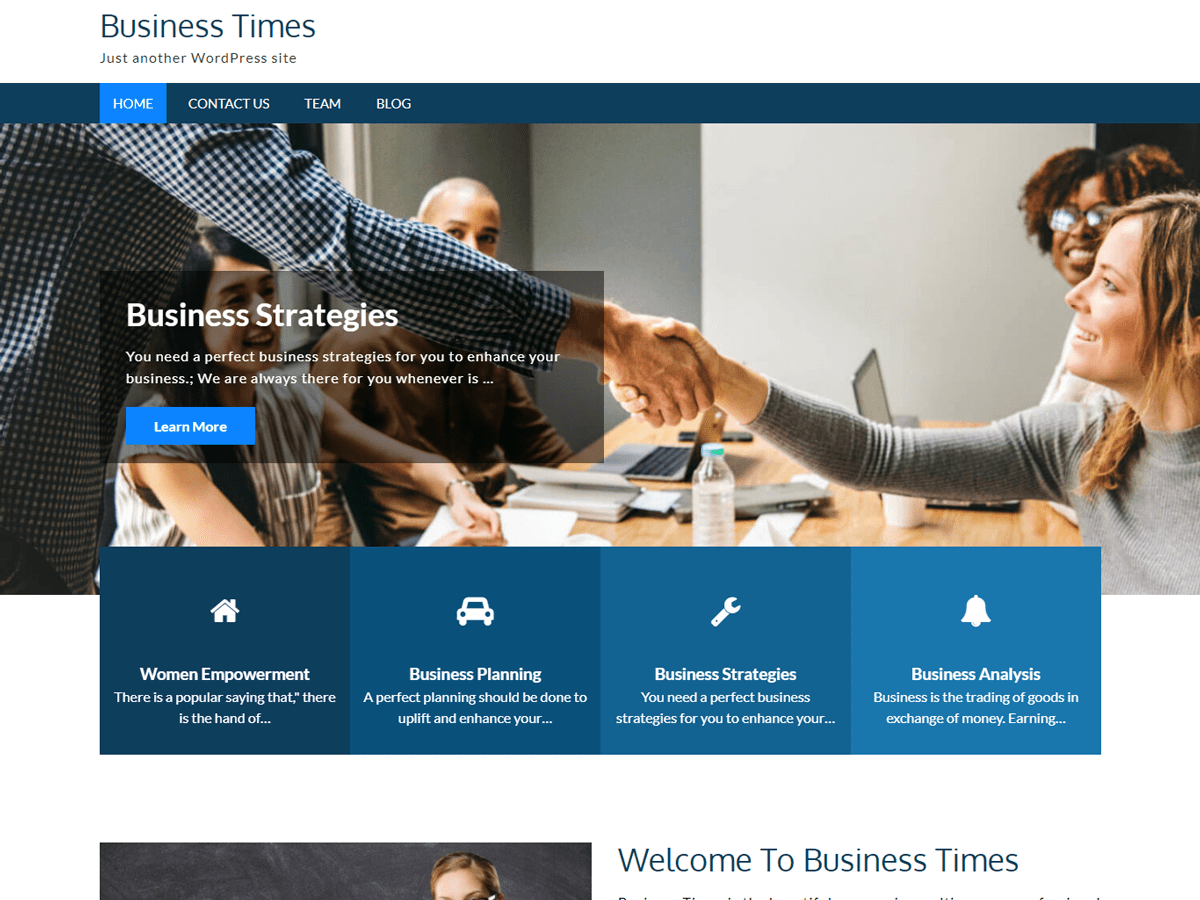 Business times WordPress theme