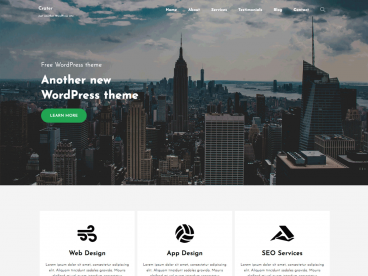 Crater Free WordPress theme