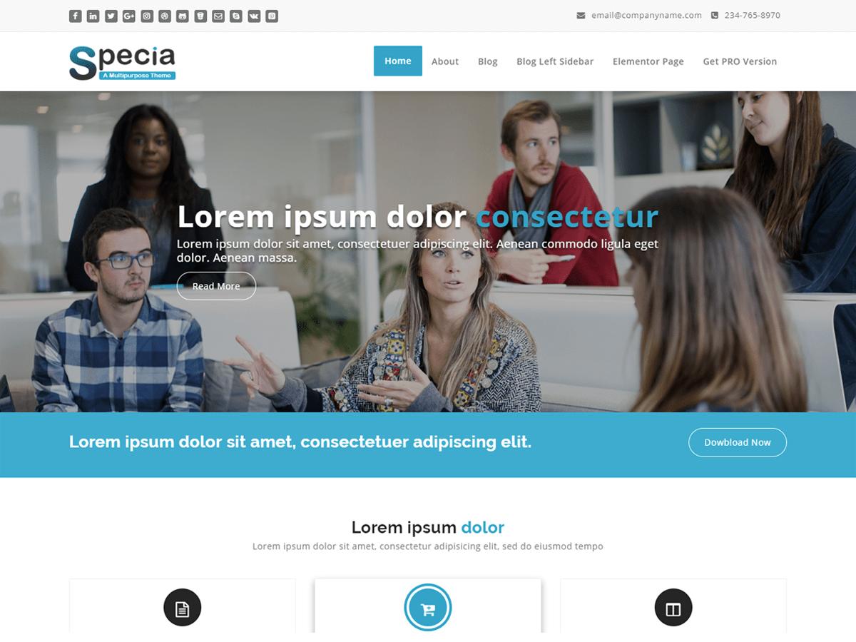 Specia WordPress theme