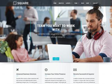 Square WordPress theme